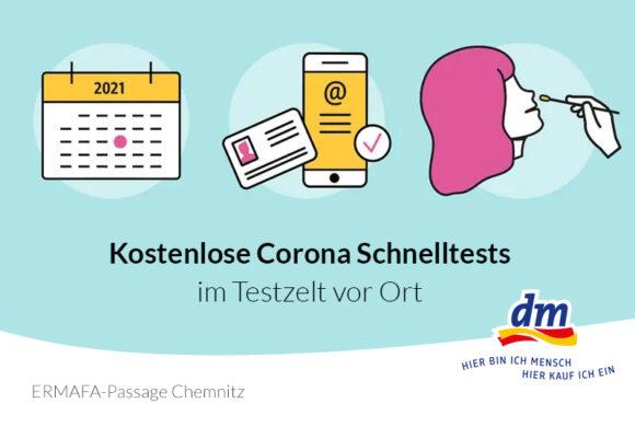 AB SOFORT: CORONA SCHNELLTESTZELT AN DER ERMAFA PASSAGE